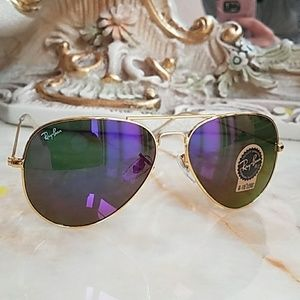 25f611872fc Ray-Ban Accessories - Ray Ban purple Gold frame Sunglasses
